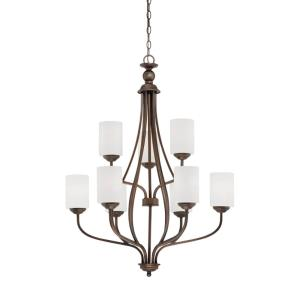 Lansing Chandelier 9 Light -28 Inches Wide by 37.75 Inches High