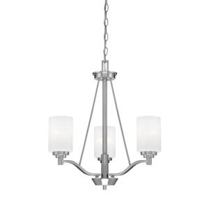 Durham Chandelier 3 Light -20.5 Inches Wide by 23 Inches High