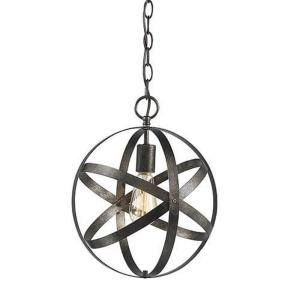 One Light Pendant-12 Inches Wide by 13 Inches High