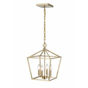 4 Light Pendant-12 Inches Wide by 18 Inches High