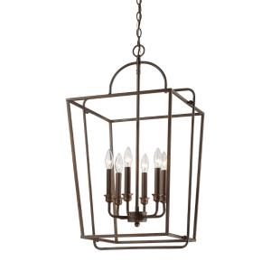 Six Light Pendant-18 Inches Wide by 30 Inches High