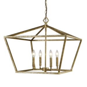 "None - 21"" 4 Light Pendant"