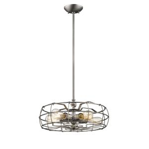 Five Light Pendant-18 Inches Wide by 47 Inches High