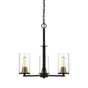 Burbank Chandelier 3 Light-23 Inches Wide by 28 Inches High
