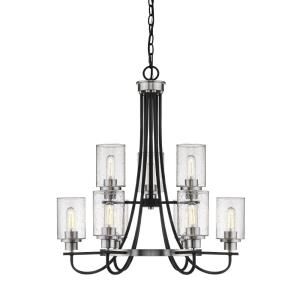 Clifton-9 Light Chandelier-28.5 Inches Wide by 31.5 Inches High