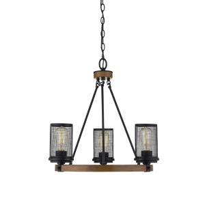 Mesa-3 Light Chandelier-21 Inches Wide by 18 Inches High