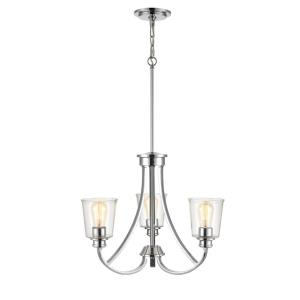Forsyth-3 Light Chandelier-21.5 Inches Wide by 66 Inches High