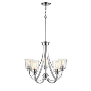 Forsyth-5 Light Chandelier-25 Inches Wide by 70.25 Inches High
