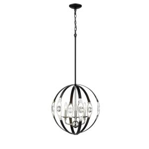 Three Light Pendant-19 Inches Wide by 21 Inches High