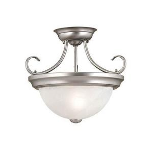 Two Light Semi-Flush Mount-13 Inches Wide by 11.5 Inches High