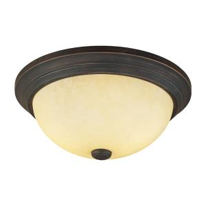 Two Light Flush Mount in Traditional Style-11 Inches Wide by 5.5 Inches High