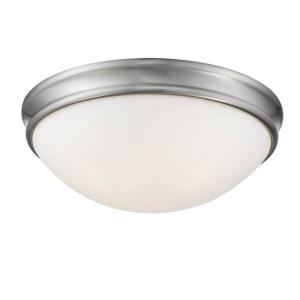 3 Light Bowl Flush Mount-14 Inches Wide by 5.5 Inches High