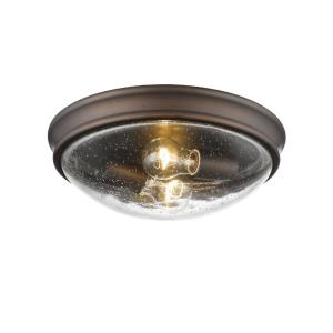 12 Inch 2 Light Flush Mount