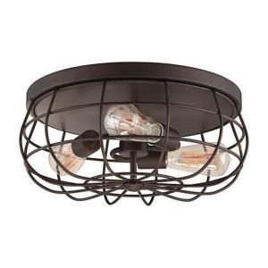 Neo-Industrial - 15.5 Inch 3 Light Flush Mount