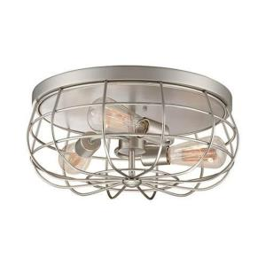 Neo- 3 Light Flush Mount-15.5 Inches Wide by 7 Inches High