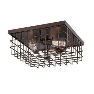 3 Light Flush Mount-16 Inches Wide by 6 Inches High