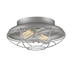 Neo-Industrial - 12 Inch 2 Light Flush Mount
