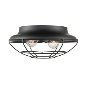 Neo- 2 Light Flush Mount-14 Inches Wide by 6 Inches High