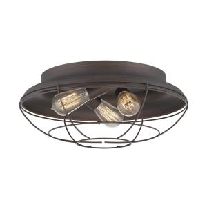 Neo- 3 Light Flush Mount-17 Inches Wide by 7 Inches High