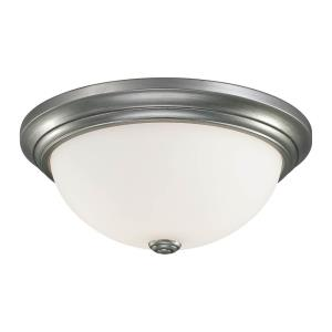 Two Light Flush Mount in Transitional Style-11 Inches Wide by 5.5 Inches High