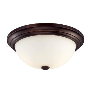 Two Light Flush Mount-13 Inches Wide by 5.5 Inches High