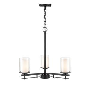 Huderson-3 Light Chandelier-23 Inches Wide by 22 Inches High