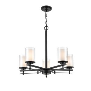 Huderson-5 Light Chandelier-26 Inches Wide by 23 Inches High