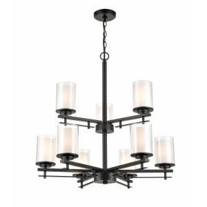 Huderson-9 Light 2-Tier Chandelier-29 Inches Wide by 29 Inches High