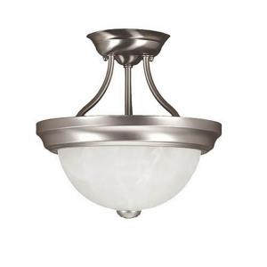 Two Light Semi-Flush Mount-11 Inches Wide by 11.5 Inches High