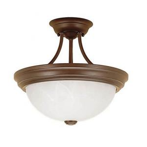"13"" Two Light Semi-Flush Mount"