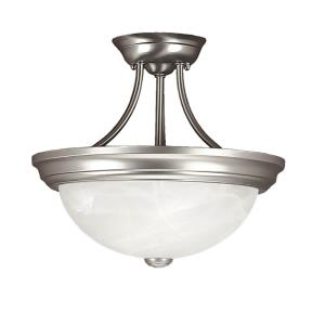 Two Light Semi-Flush Mount-13 Inches Wide by 12 Inches High