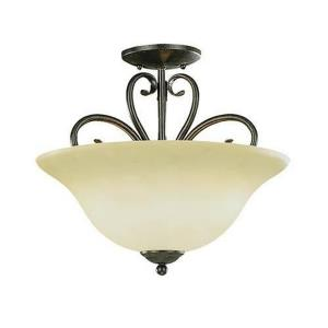 Devonshire-Three Light Semi-Flush Mount-16 Inches Wide by 14.5 Inches High