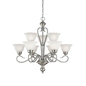 Devonshire 2 Tier Chandelier 9 Light-29 Inches Wide by 28 Inches High