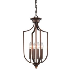 Four Light Pendant-12 Inches Wide by 24 Inches High