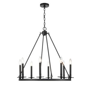 Florence-8 Light Chandelier-28 Inches Wide by 27 Inches High