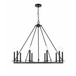 Florence Chandelier 10 Light-36 Inches Wide by 30 Inches High