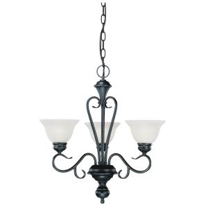 Devonshire Chandelier 3 Light in Traditional Style-23 Inches Wide by 24 Inches High