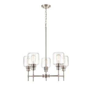 Asheville Chandelier 5 Light-25.5 Inches Wide by 29.5 Inches High