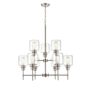 Asheville 2 Tier Chandelier 9 Light-29.5 Inches Wide by 38 Inches High