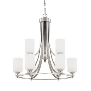 Bristo Chandelier 9 Light -25.5 Inches Wide by 29 Inches High