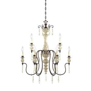 Denise 2 Tier Chandelier 9 Light-28 Inches Wide by 36 Inches High