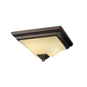 Two Light Flush Mount-13 Inches Wide by 6 Inches High