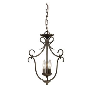 3 Light Pendant-13 Inches Wide by 18.75 Inches High