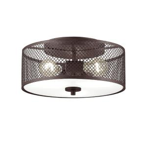 Akron-Three Light Semi-Flush Mount-13 Inches Wide by 6.5 Inches High
