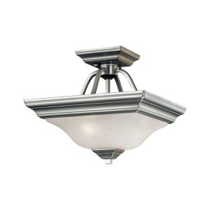 Two Light Semi-Flush Mount-13 Inches Wide by 10.75 Inches High
