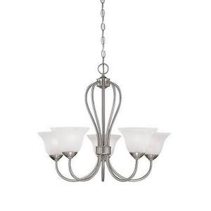 Main Street Chandelier 5 Light-25.5 Inches Wide by 22 Inches High