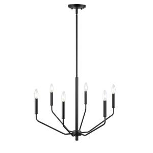 Avell-6 Light Chandelier-24 Inches Wide by 18.75 Inches High
