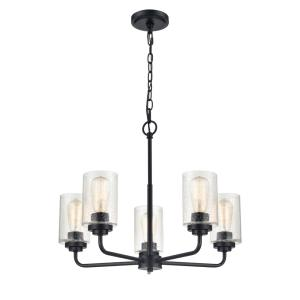 Moven-5 Light Chandelier-23 Inches Wide by 18.75 Inches High