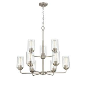 Moven-9 Light Chandelier-28 Inches Wide by 26.75 Inches High