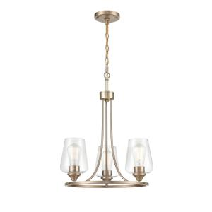 Ashford-3 Light Chandelier-18 Inches Wide by 19 Inches High
